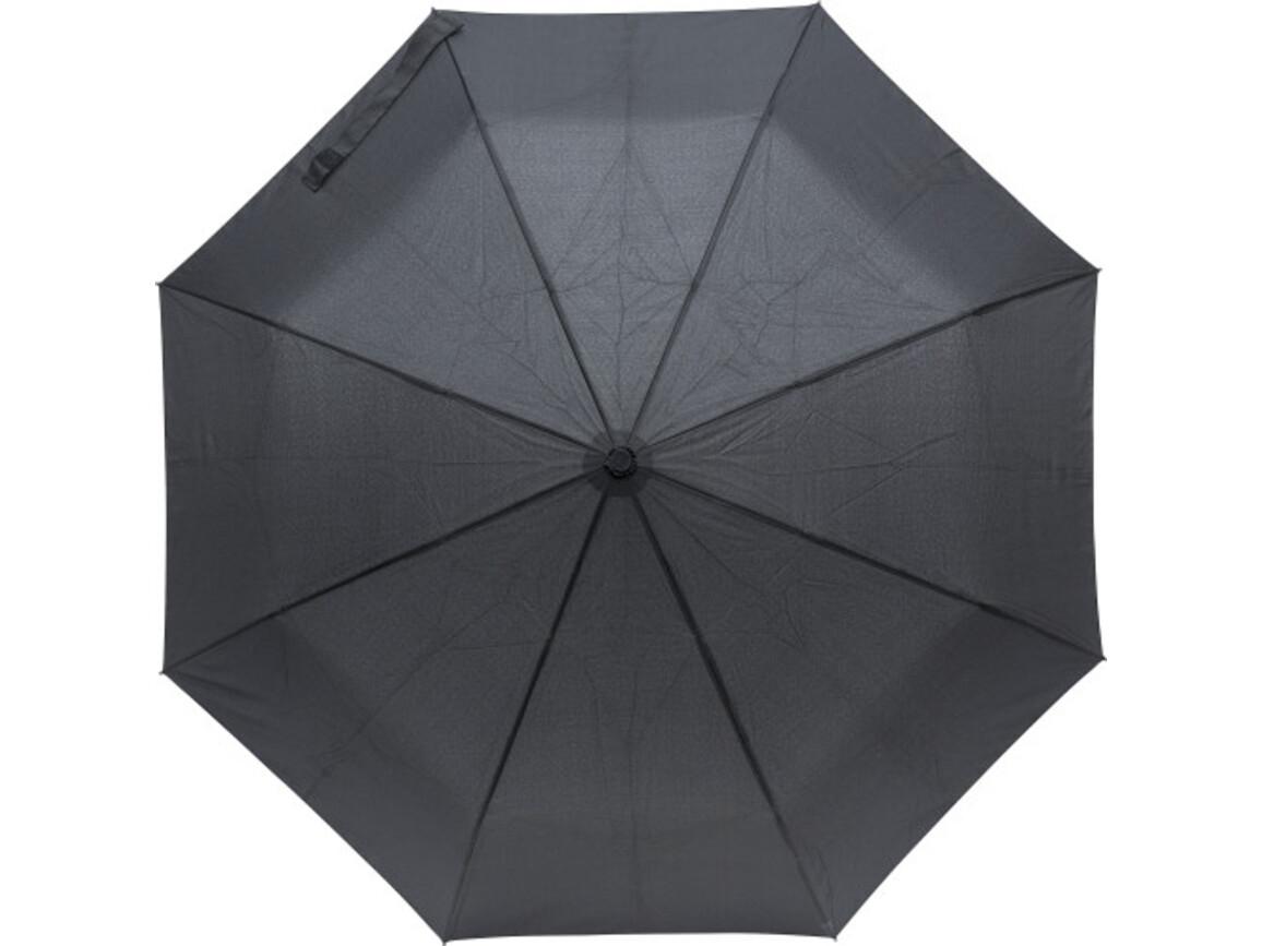 Regenschirm 'Singin' In The Rain' aus Pongee-Seide – Schwarz bedrucken, Art.-Nr. 001999999_9249