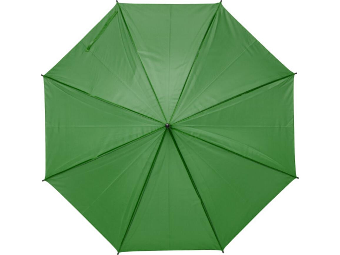 Regenschirm 'John' aus Polyester – Grün bedrucken, Art.-Nr. 004999999_9253