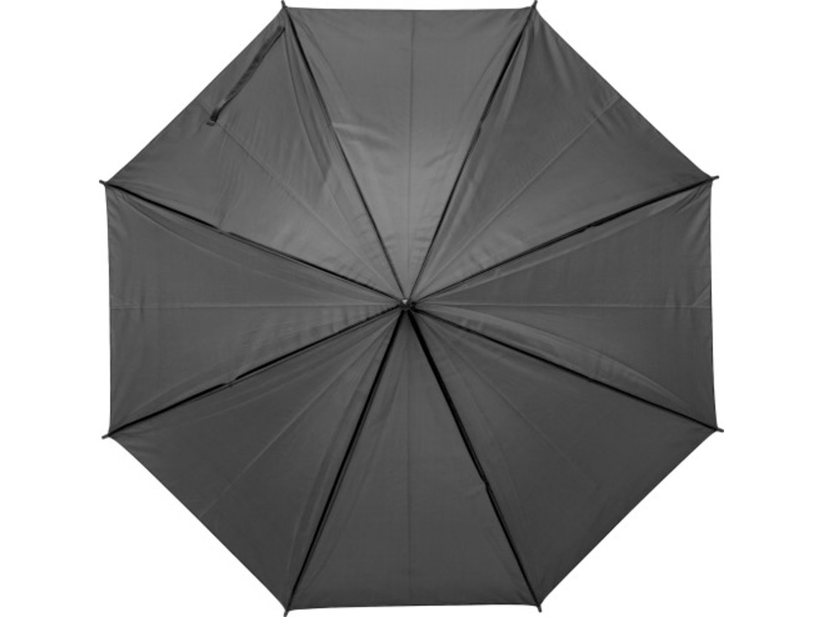 Regenschirm 'John' aus Polyester – Schwarz bedrucken, Art.-Nr. 001999999_9253