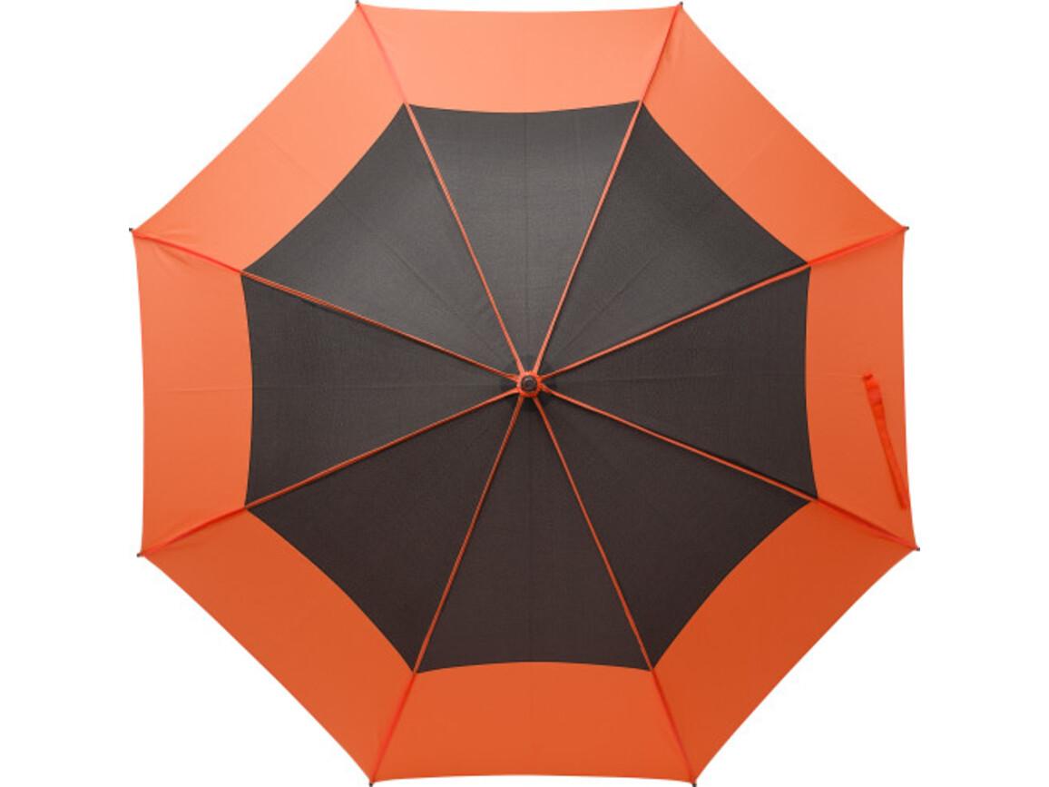 Regenschirm 'Tina' aus Pongee-Seide – Orange bedrucken, Art.-Nr. 007999999_9254
