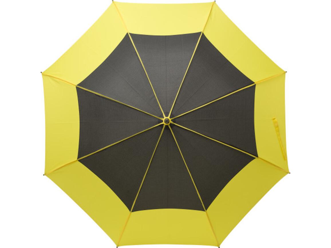 Regenschirm 'Tina' aus Pongee-Seide – Gelb bedrucken, Art.-Nr. 006999999_9254