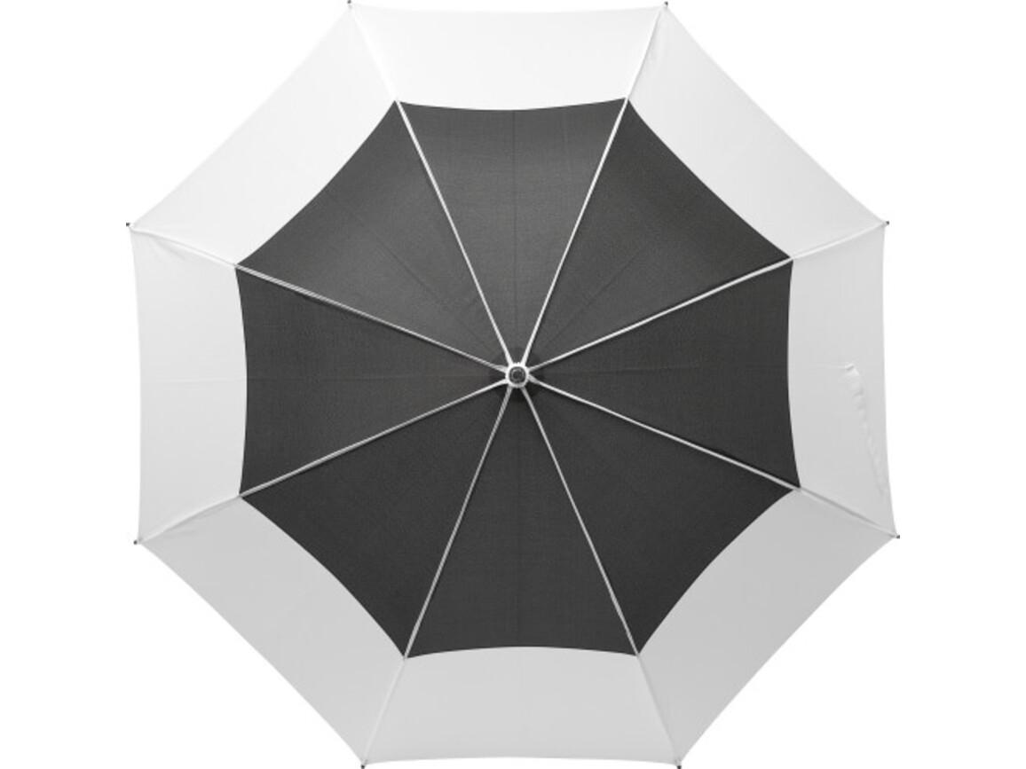 Regenschirm 'Tina' aus Pongee-Seide – Weiß bedrucken, Art.-Nr. 002999999_9254