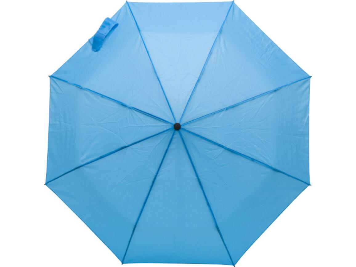 Regenschirm 'Marion' aus Polyester – Hellblau bedrucken, Art.-Nr. 018999999_9255