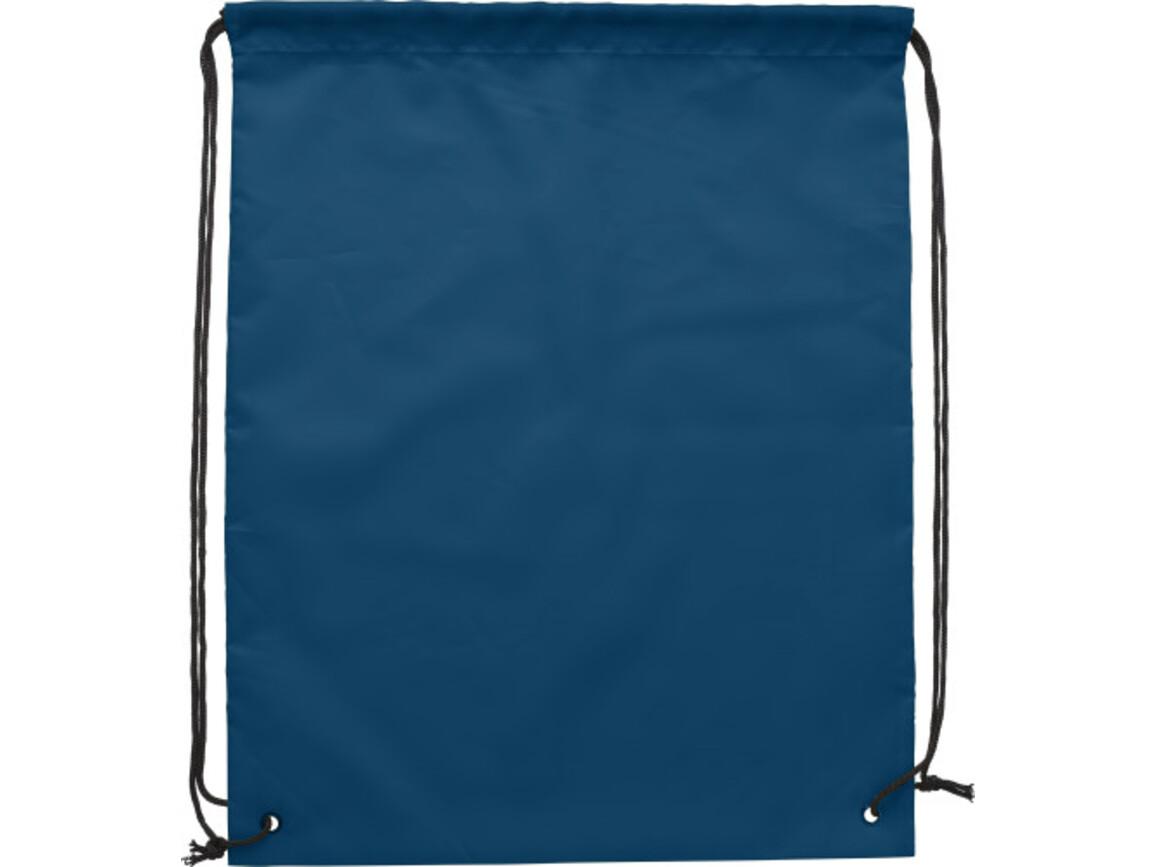 Turnbeutel 'Jumper' aus Polyester – Blau bedrucken, Art.-Nr. 005999999_9261