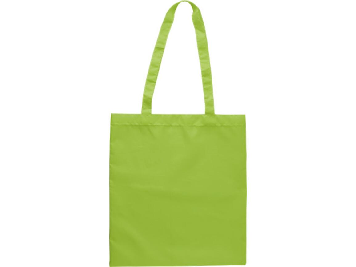 Einkaufstasche 'Peaches' aus Polyester – Limettengrün bedrucken, Art.-Nr. 019999999_9262