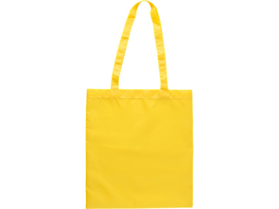Einkaufstasche 'Peaches' aus RPET-Polyester – Gelb bedrucken, Art.-Nr. 006999999_9262