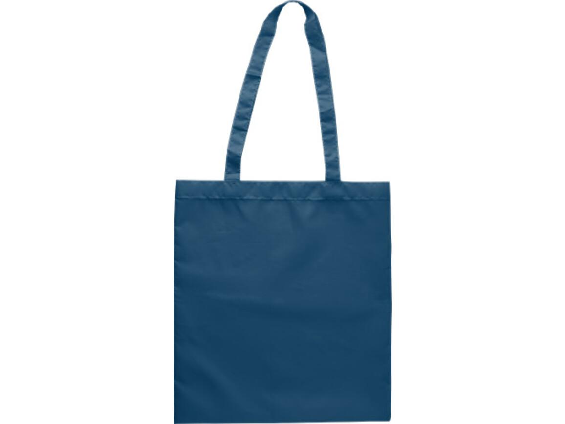 Einkaufstasche 'Peaches' aus RPET-Polyester – Blau bedrucken, Art.-Nr. 005999999_9262