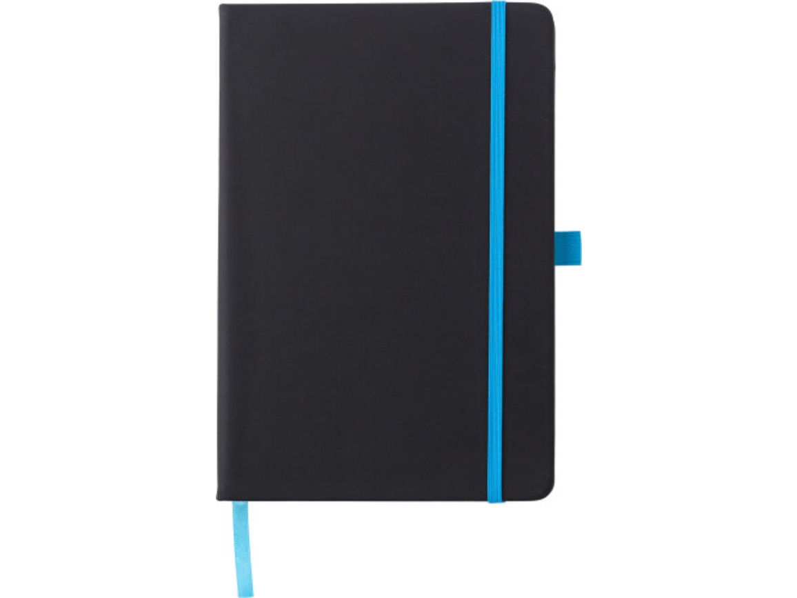 Notizbuch 'Regenbogen' aus Kunststoff – Hellblau bedrucken, Art.-Nr. 018999999_8384