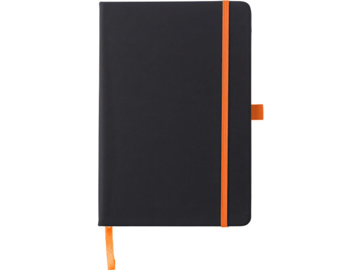 Notizbuch 'Regenbogen' aus Kunststoff – Orange bedrucken, Art.-Nr. 007999999_8384