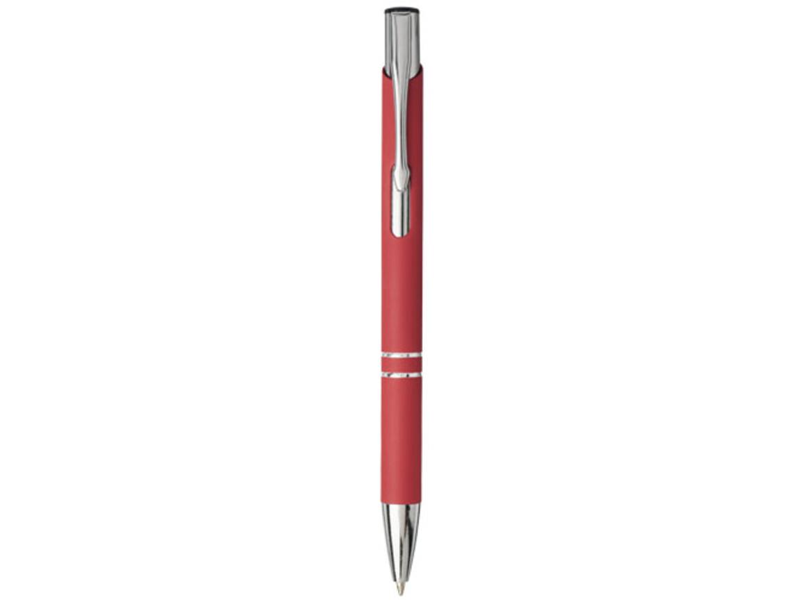 Moneta Soft Touch Druckkugelschreiber, rot bedrucken, Art.-Nr. 10743702