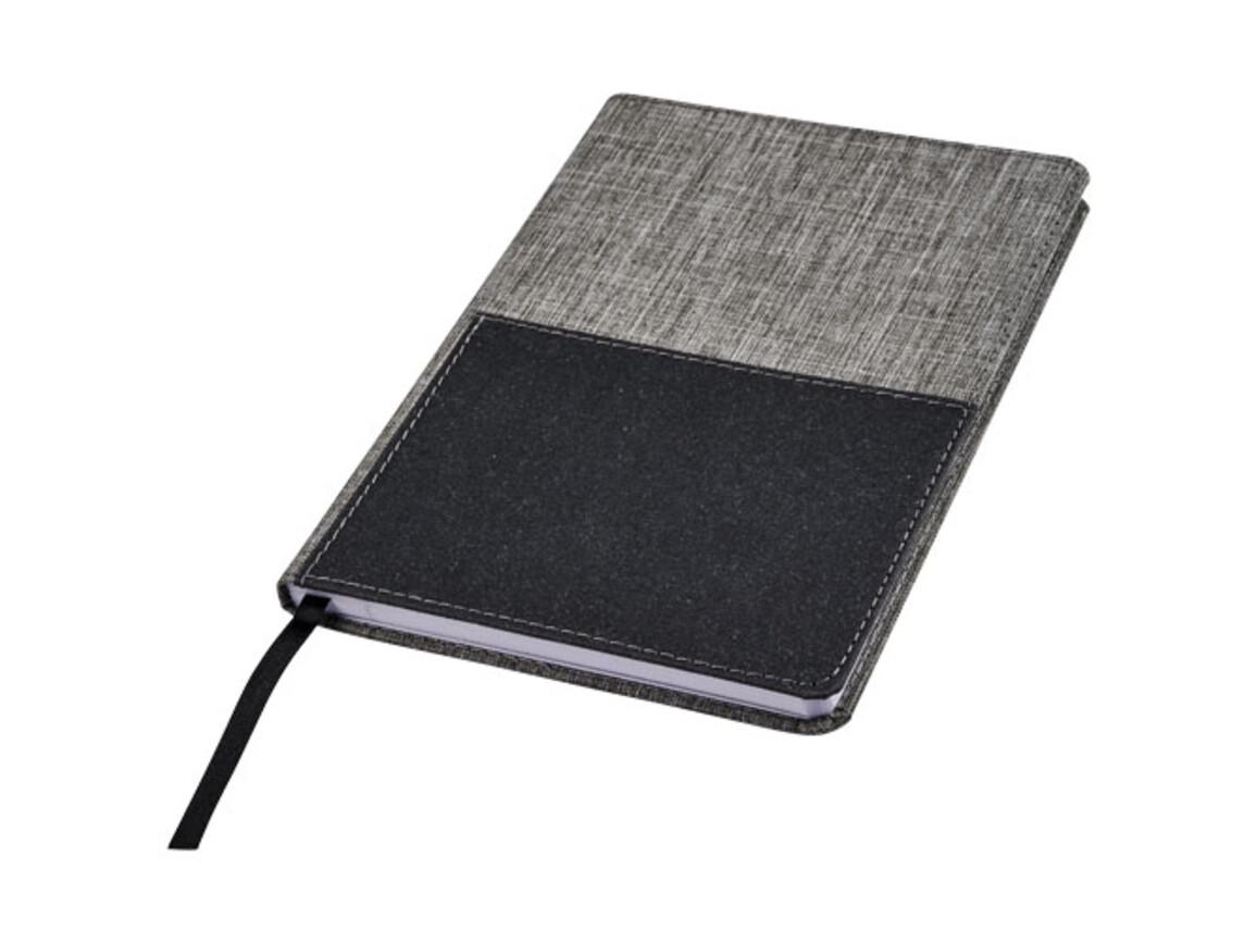 Mera RPET A5 Notizbuch mit Fronttasche, grau bedrucken, Art.-Nr. 10757600