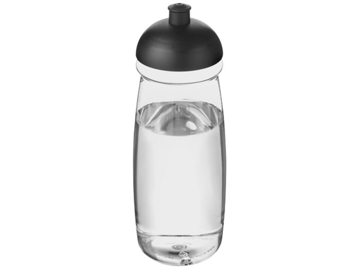 H2O Pulse® 600 ml Sportflasche mit Stülpdeckel, transparent, schwarz bedrucken, Art.-Nr. 21005615