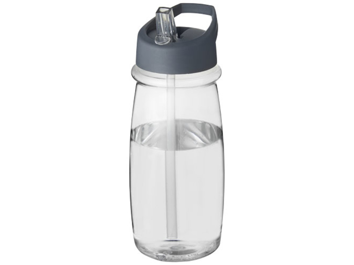 H2O Pulse 600 ml Sportflasche mit Ausgussdeckel, transparent,Storm Grey bedrucken, Art.-Nr. 21088211