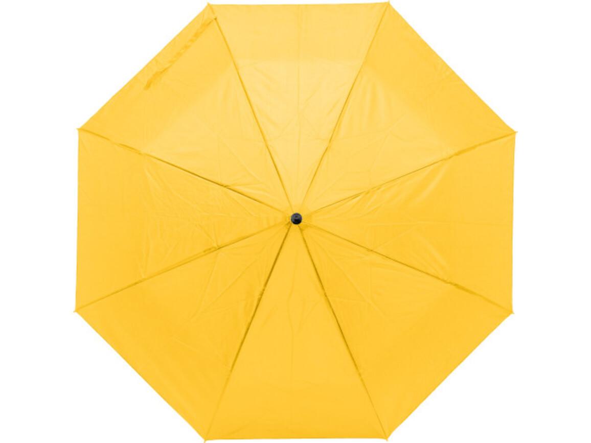 Regenschirm 'Lauren' aus Pongee-Seide – Gelb bedrucken, Art.-Nr. 006999999_9258
