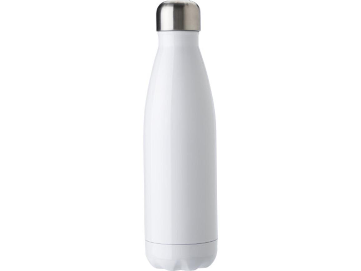 Flasche aus Edelstahl (500 ml) – Weiß bedrucken, Art.-Nr. 002999999_9295