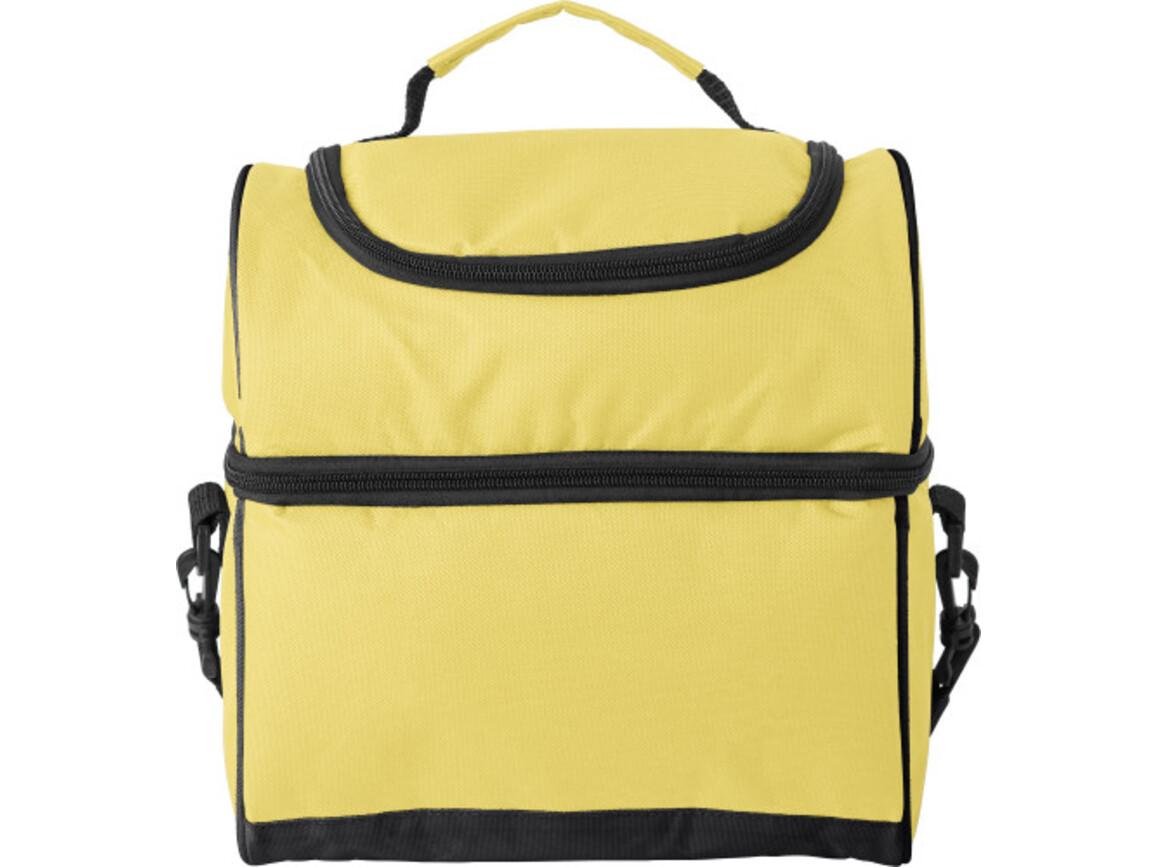 Kühltasche 'Eisprinzessin' aus Polyester – Gelb bedrucken, Art.-Nr. 006999999_9173
