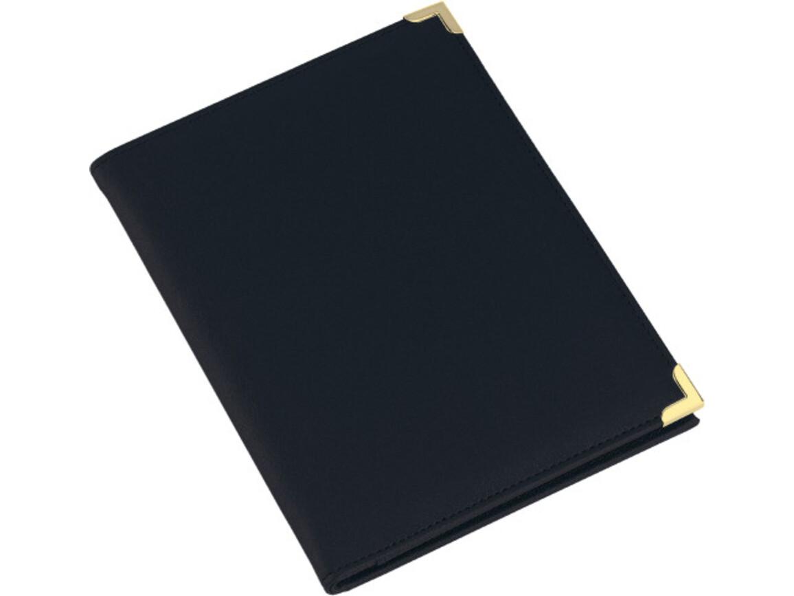 Konferenzmappe 'Oxford' aus PU mit Metallecken – Schwarz bedrucken, Art.-Nr. 001999999_8622