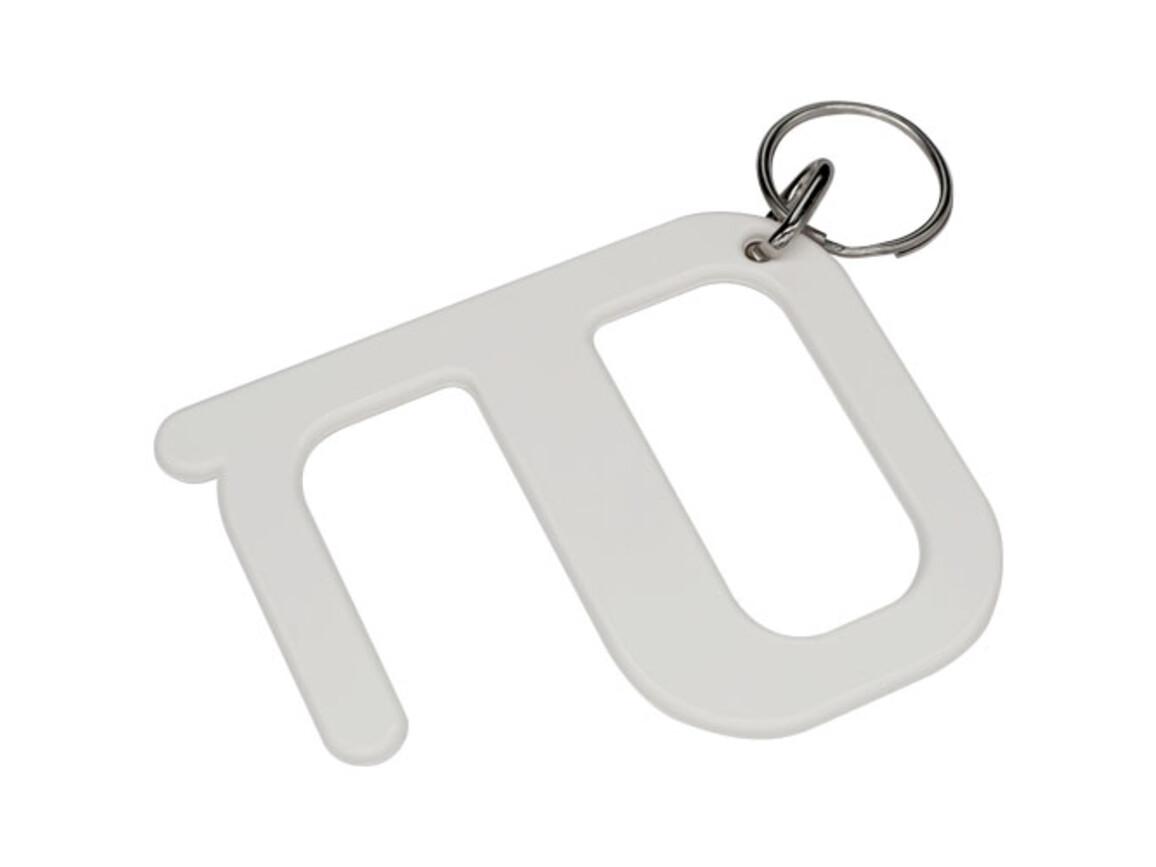 Hygiene Schlüssel, weiss bedrucken, Art.-Nr. 21025301