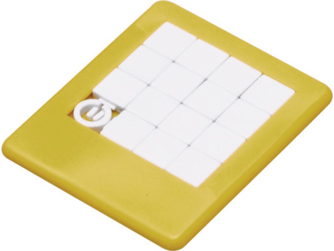 Plastic sliding puzzle – Gelb bedrucken, Art.-Nr. 006999999_2302