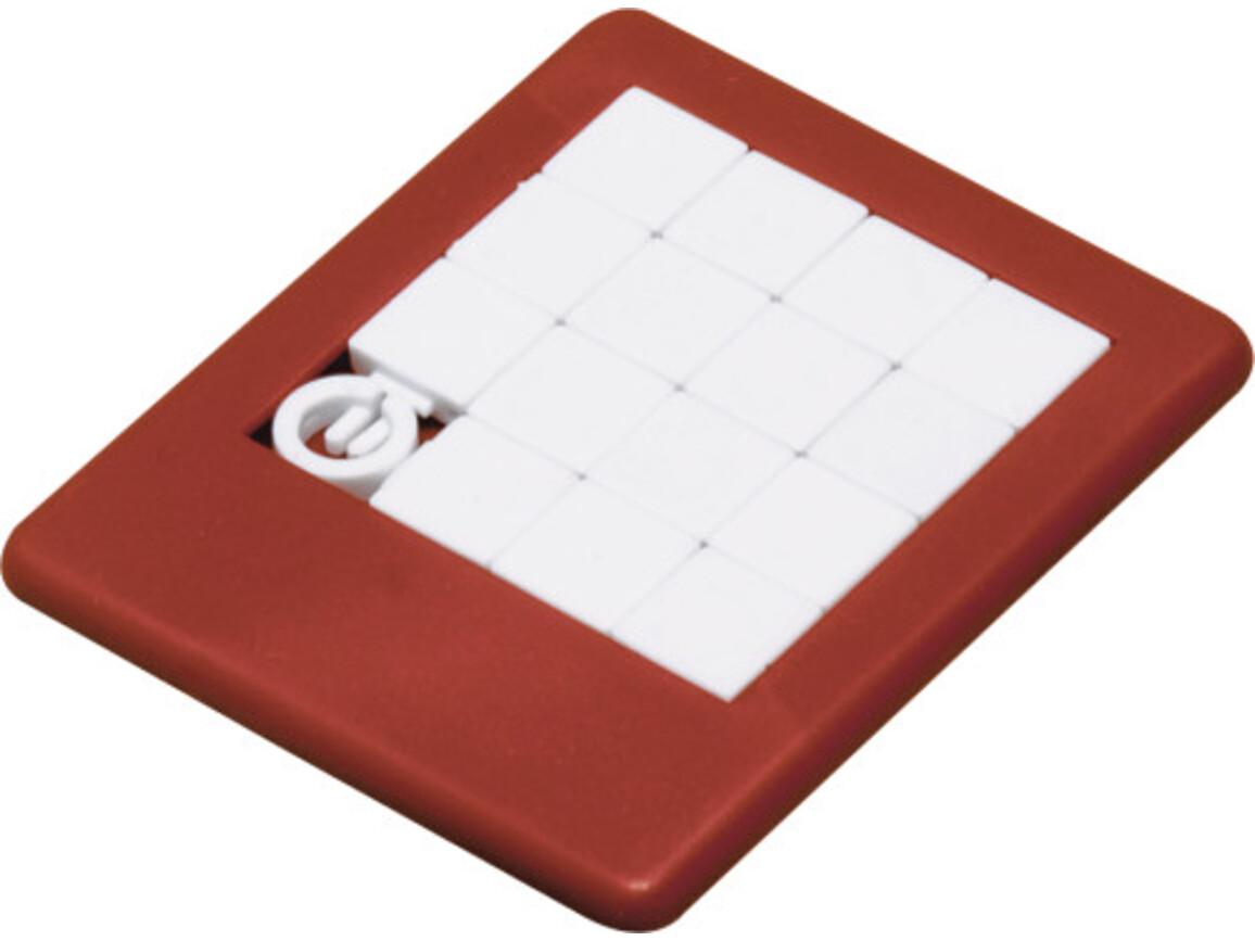 Plastic sliding puzzle – Rot bedrucken, Art.-Nr. 008999999_2302