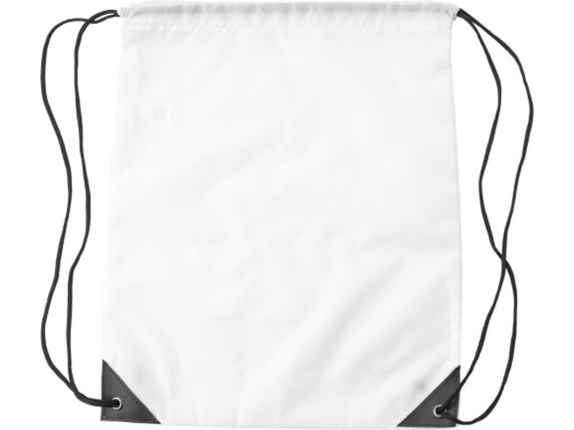 Turnbeutel 'Jumper' aus Polyester – Weiß bedrucken, Art.-Nr. 002999999_9261