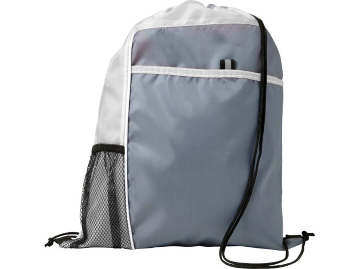Schuh-/Rucksack (Turnbeutel) 'Mondo' aus Polyester – Weiß bedrucken, Art.-Nr. 002999999_7637
