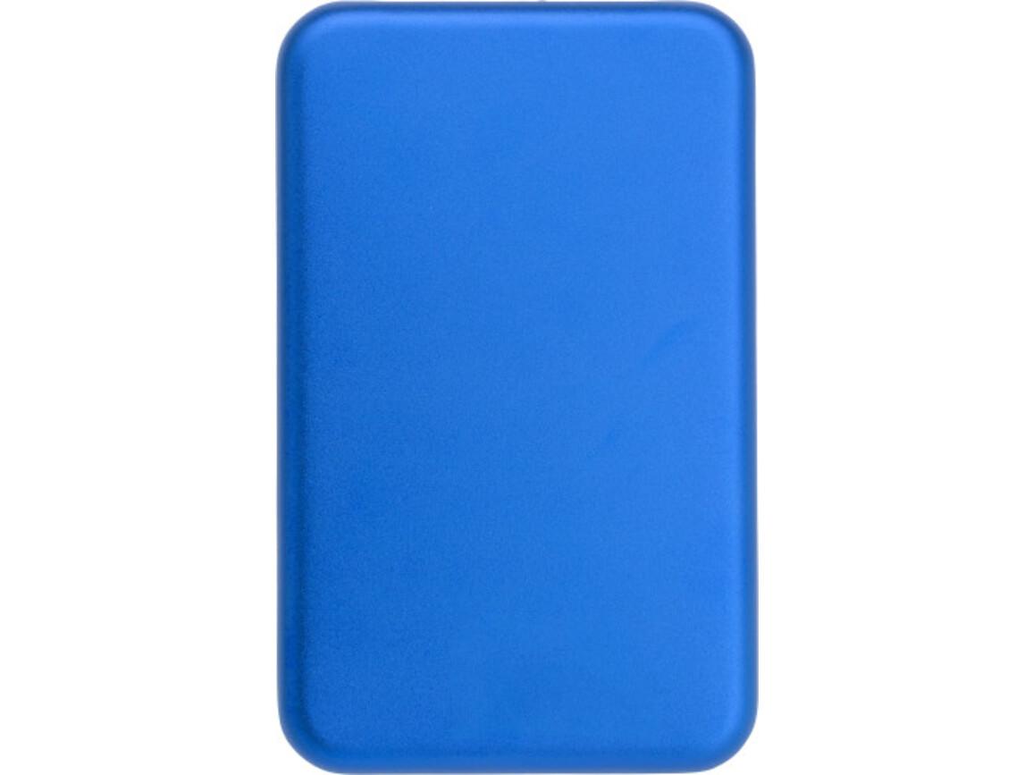 "Aluminium Solar Powerbank ""Solis"" – Blau bedrucken, Art.-Nr. 005999999_9332"