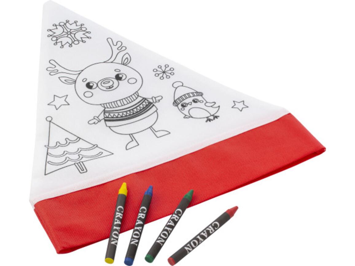 Weihnachtsmütze aus Non-Woven (80 gr/m²) – Rot/Weiß bedrucken, Art.-Nr. 048999999_8291