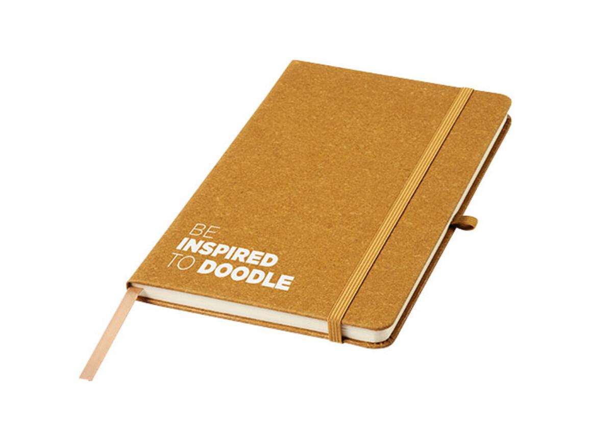 Be Inspired A5 Notizbuch aus Lederresten, braun bedrucken, Art.-Nr. 10773071