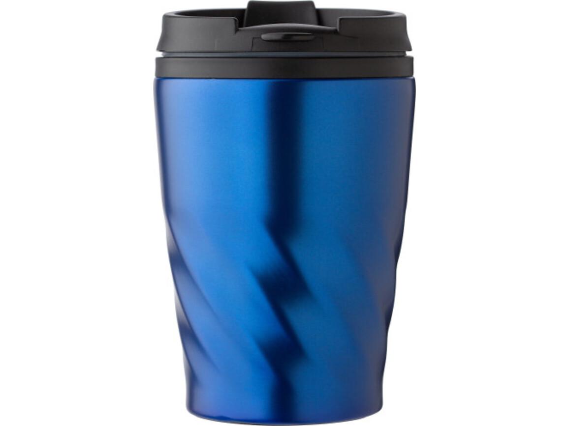 Kaffeebecher 'Curly' aus Edelstahl – Blau bedrucken, Art.-Nr. 005999999_8435