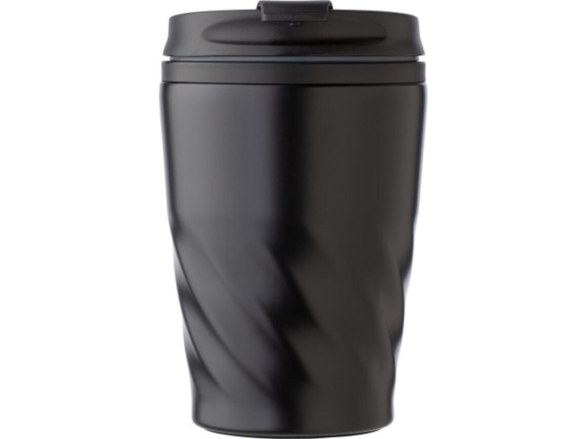 Kaffeebecher 'Curly' aus Edelstahl – Schwarz bedrucken, Art.-Nr. 001999999_8435