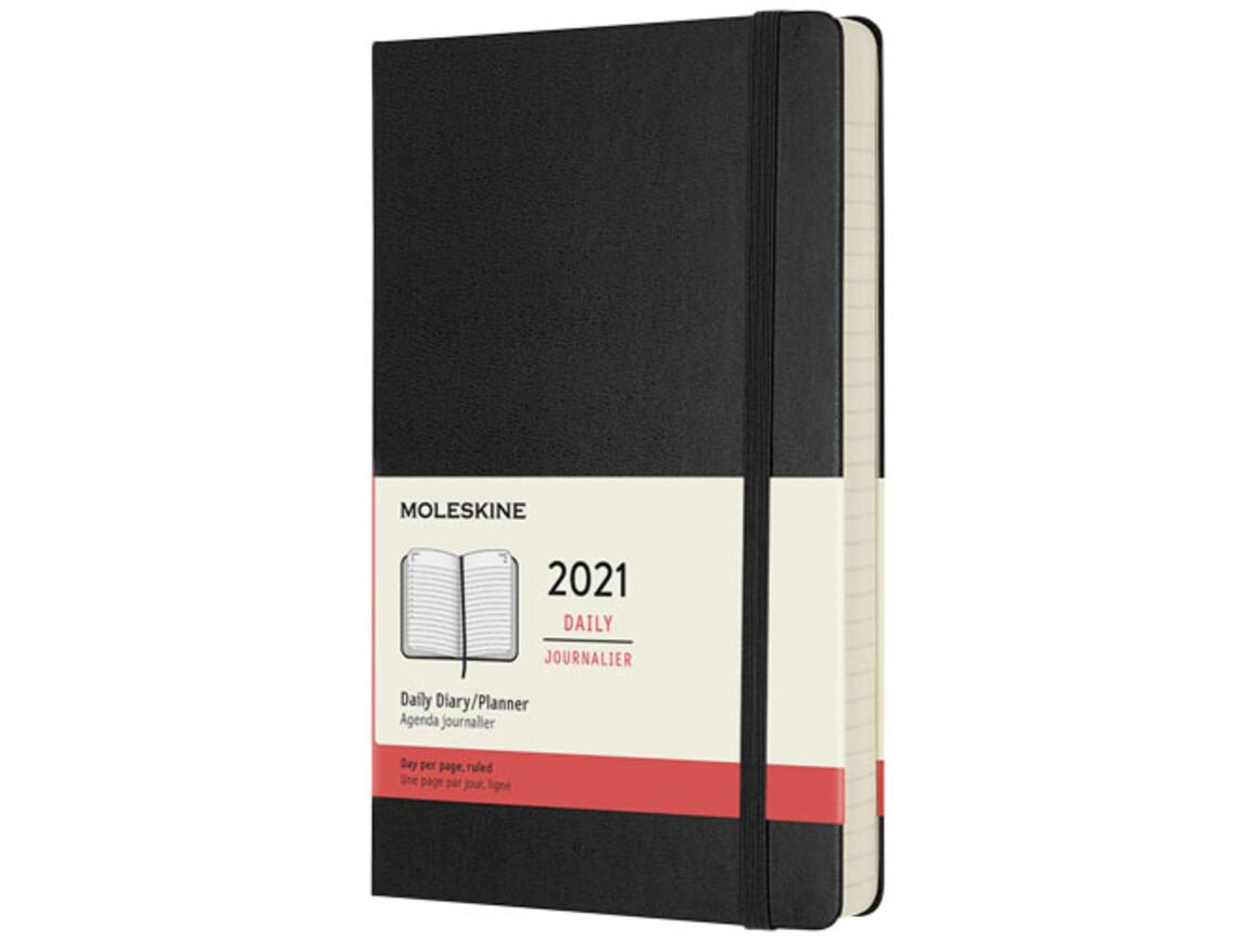 12M Hardcover Tageskalender L, schwarz bedrucken, Art.-Nr. 10775390